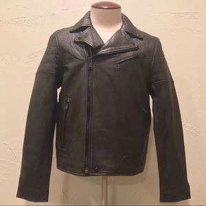 NWT Tommy Hilfiger Brown Leather Jacket Men Medium